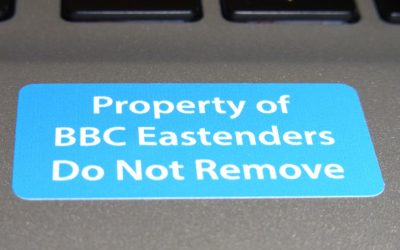 BBC Asset Label 'Property of' Stickers